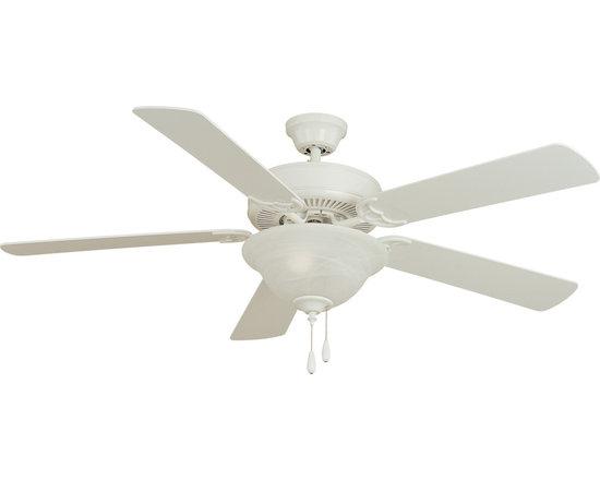 "Basic-Max-Indoor Ceiling Fan - Basic-Max 52"" Ceiling Fan White/Light Oak Blades"