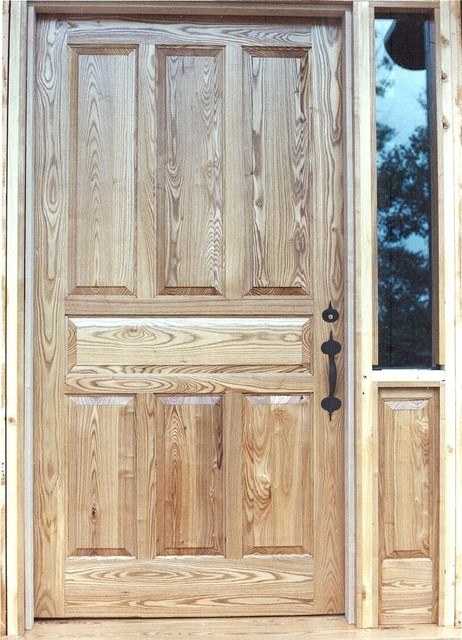 Oversized Oak 7 Panel Entry Door Traditional Front
