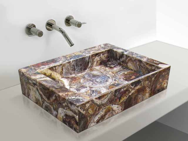 how to clean petrified wood sink