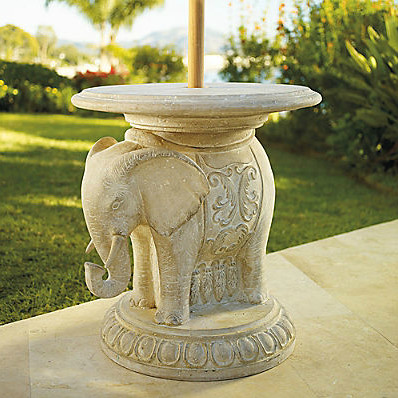 Elephant Umbrella Table traditional-outdoor-side-tables