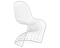 Zuo Wickham Dining Chair White contemporary-dining-chairs