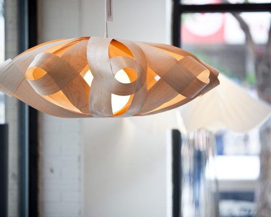 Lighting - Wood veneer pendant