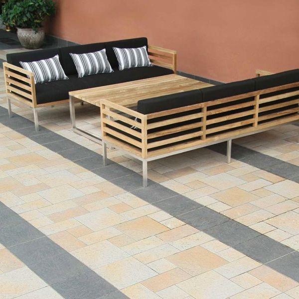 Recycled teak sofa chair and table outdoor sofas by Outdoor sofa tables
