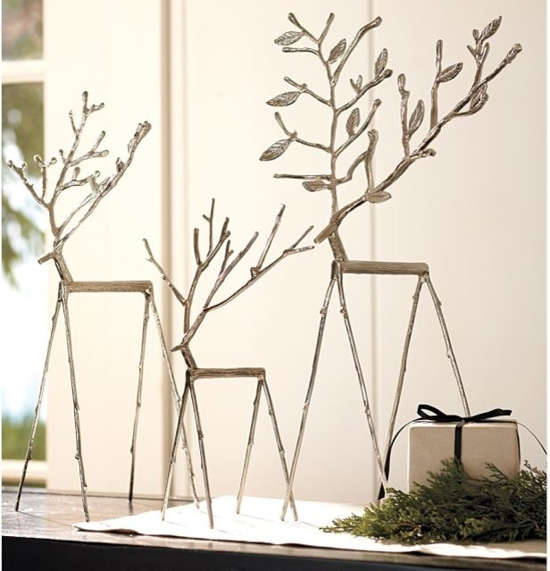 Twig Reindeer - Contemporary - Holiday Accents And Figurines ...