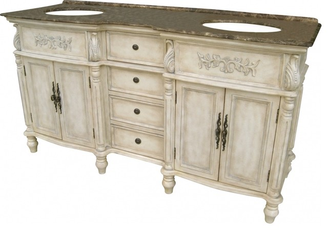 67 inch traditional double sink bathroom vanity
