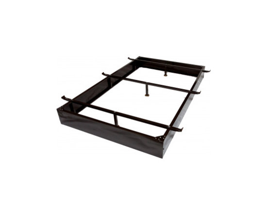 """Ultimate King Size Bed Frame 7-1/2"""" Height - Ultimate King Size Bed Frame 7 1/2"""" Height with Durable Brown Finish, Tubular Support Leg + Adjustable Bed Frames by Ramayan Supply."""
