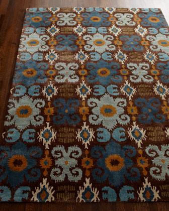 Safavieh Blue Ikat Runner, 2'6 x 8' traditional-rugs