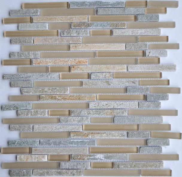 Kitchen Granite Wall Tiles: Glass Stone Mosaic Kitchen Backsplash Tiles Glass Wall