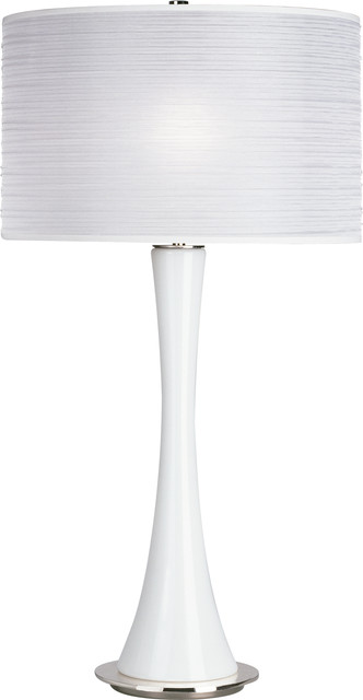 Kate Table Lamp,White Glass/White contemporary-table-lamps