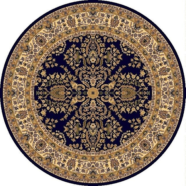 european new vision round 5 39 3 round lilihan navy area rug