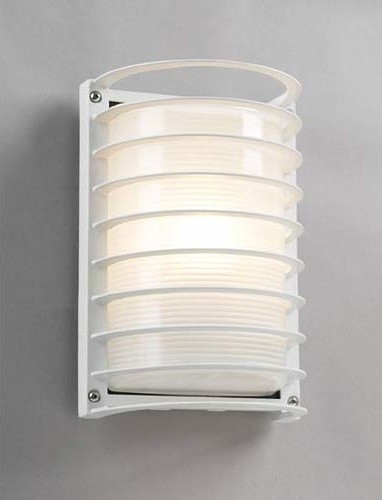 Evora White Wall Mounted Outdoor Light Modern Outdoor Wall Lights And Sco