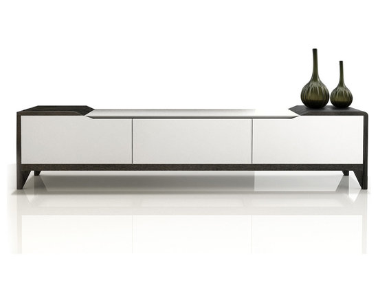 Inmod - Eco-Natura Iris TV Stand - Create a functional place to display your TV and store your  media while accessorizing your modern living space with the chic yet functional EcoNatura Iris TV Stand exclusively from Inmod.