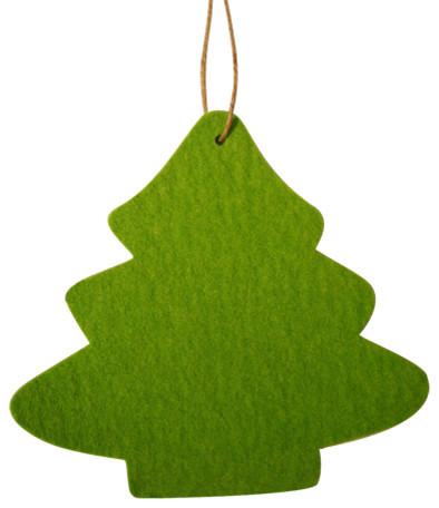 Felt Christmas Tree Ornament Apple Green Contemporary