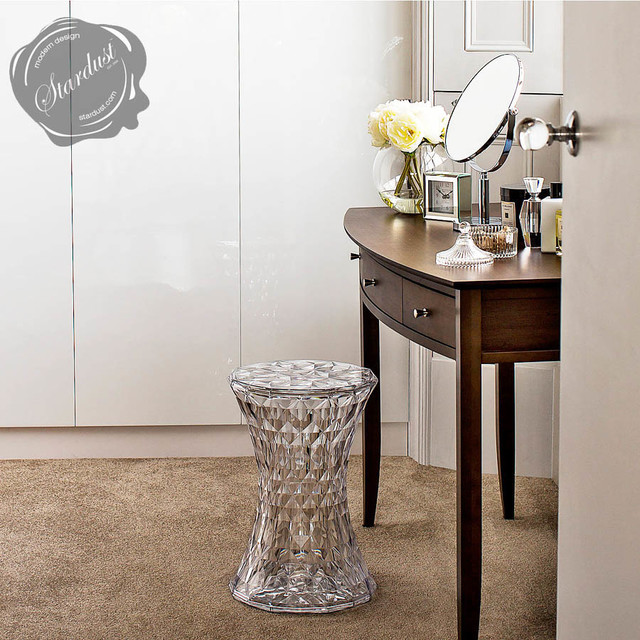 Stone Stools Kartell Contemporary Transparent Lucite Crystal Stone Stool Contemporary