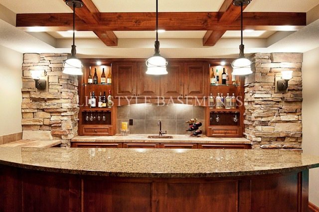 traditional basement by Lifestyle Basements|Kitchens