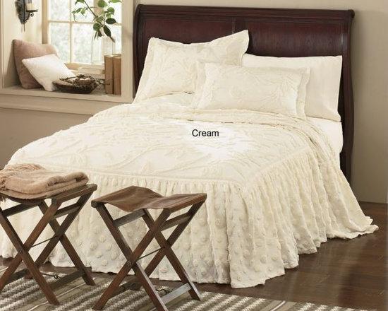 Ruffled Chenille Bedspread -