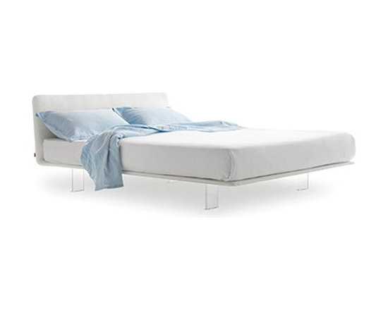 Pianca - Pianca | Filo Bed - Quick Ship - Design by R&S Pianca. Made in Italy by Pianca. In response to a demand for synthesis theming, the Filo Bed challenges the common dimensions of any room. Minimally designed with shallow depth, uniquely fitted with nearly invisible legs, and upholstered for absolute comfort, the bed creates an ideal environment for a bedroom in need of contemporary touch. Create your ultimate bedroom and complete your look with the rest of what Pianca has to offer.  Product Features: