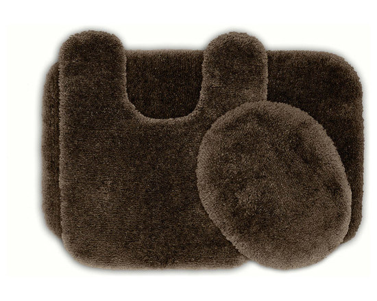 Sands Rug - Posh Plush Cafe Noir Washable Bath Rug (Set of 3) - Revel in spa-like luxury every time you step into your bath with the Posh Plush collection of bath rugs. The amazingly soft, yet durable, nylon plush is machine washable, and each floor piece has a non-skid latex backing for safety.