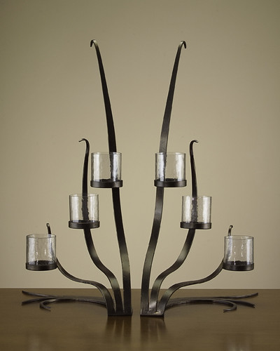 John Richard Set Of 2 Contemporary Candelabras contemporary candles and candle holders
