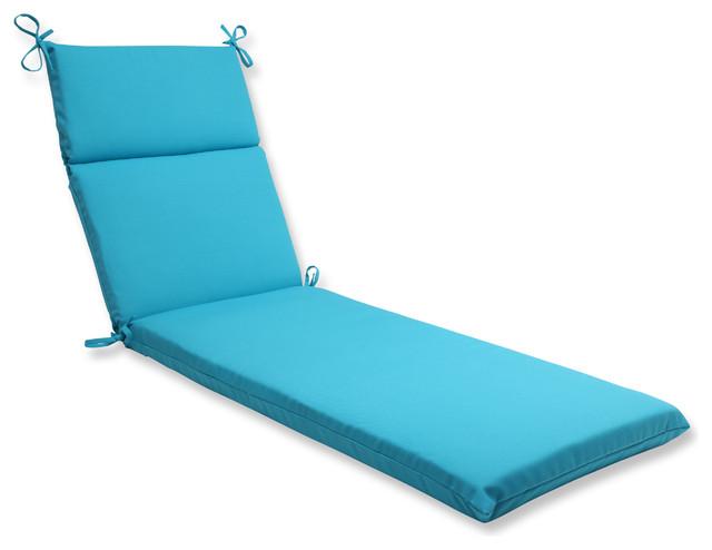 Pillow Perfect Outdoor Veranda Turquoise Chaise Lounge Cushion - Contemporary - Outdoor Chaise ...