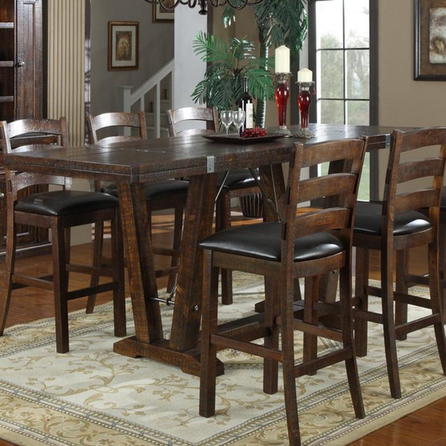 Home Castlegate 42 In Bar Height Trestle Table Modern Dining Tables