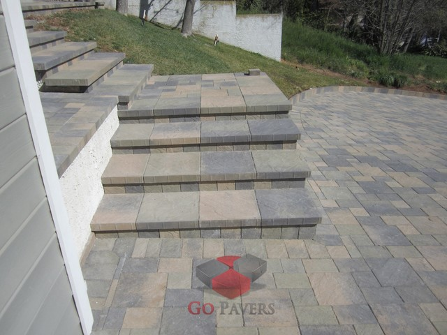 Sloped Driveway South Pasadena Steps 1 Traditional Los