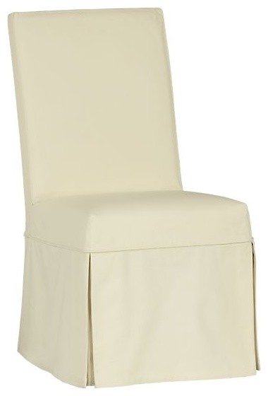 Slip Buttercream Side Chair | Crate&Barrel contemporary dining chairs and benches