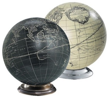 Black & White Globe with Base eclectic accessories and decor