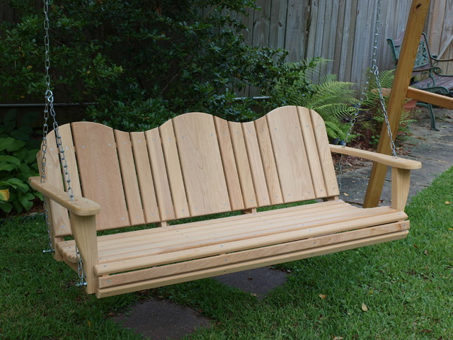 Cypress Porch Swing - Traditional - Porch Swings - jackson - by Old South cypress Works