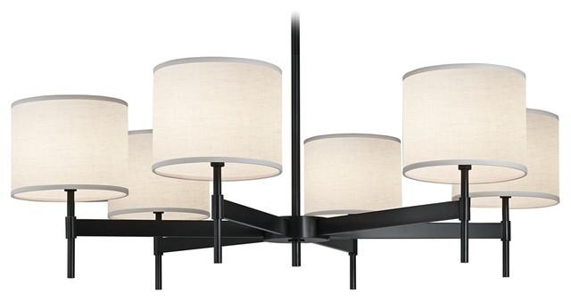 Contemporary Echo 6-Light Deep Patina Bronze Chandelier modern-chandeliers