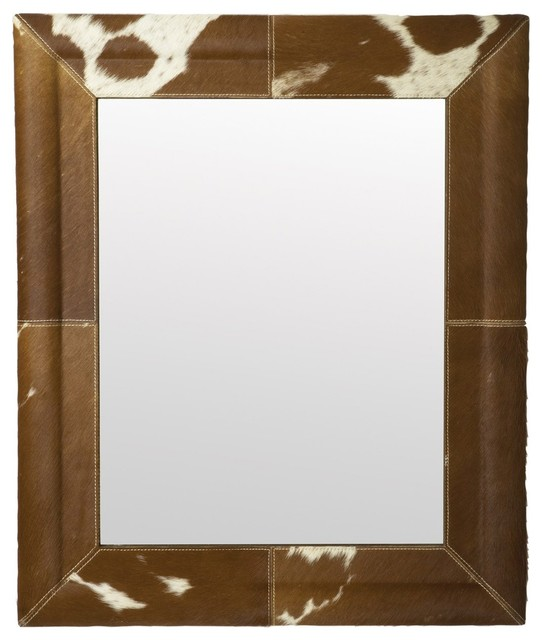 Lazy Susan Caramel Faux Pony Mirror eclectic-wall-mirrors
