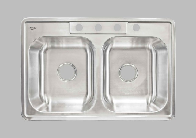 KCK Kitchen Sinks - Top Mount Double Bowl Sink LCLTD84 kitchen-sinks