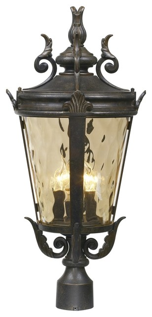 "Casa Marseille Collection 25"" High Outdoor Post Lamp traditional-post-lights"
