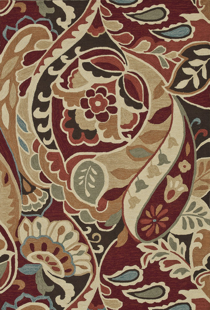 """Loloi Summerton SRS09 (Red, Multi) 7'6"""" x 9'6"""" Rug traditional-area-rugs"""