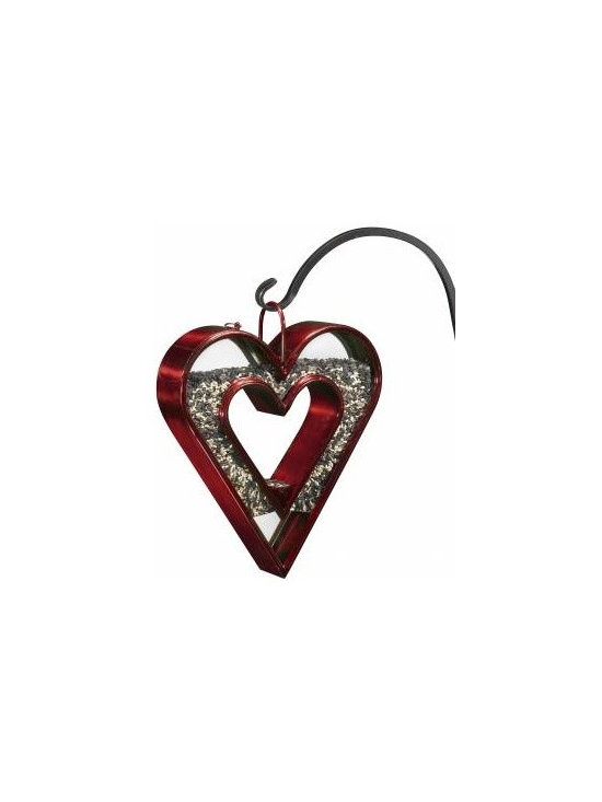 G.D. - Good Directions Heart Fly-Thru Bird Feeder - Ruby - Our unique Venetian Bronze and Ruby-Red finished steel Bird Feeders are designed to lure birds in for a snack and help bird watchers' favorite activity last all day long! Designed to show birds you love to feed them, from the bottom of your heart.
