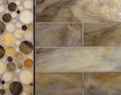 Kiss My Big Fat Glass - Shake That Thing 4 x 16 contemporary floor tiles