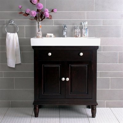 Lanza products wf6202 monte 30 inch vanity with top and for Bathroom cabinets 30 inch