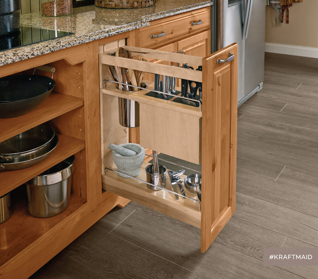 Kraftmaid kitchen base pantry pull out utensil storage Bathroom cabinet organizers pull out