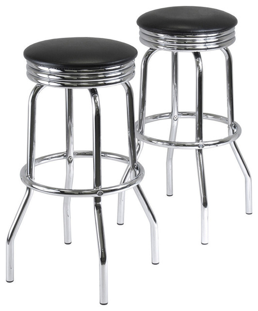 Winsome Wood Summit Set of 2 Swivel Bar Stools contemporary-bar-stools-and-counter-stools