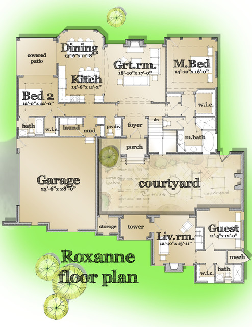 The Roxanne traditional-floor-plan