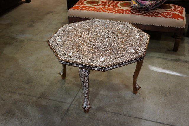 bone inlaid coffee table eclectic los angeles by de cor. Black Bedroom Furniture Sets. Home Design Ideas