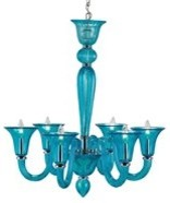 Currey and Company Giustina Transitional Chandelier - Blue - CNC-9154 modern-chandeliers