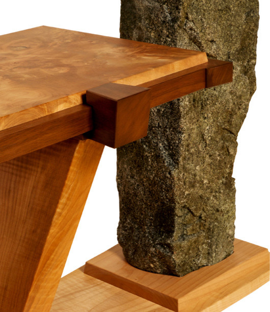 """Maple In Balace""  Maple and Granite Coffee Table eclectic-coffee-tables"