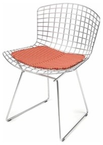 Bertoia Side Chair with Seat Cushion | YLiving midcentury-living-room-chairs