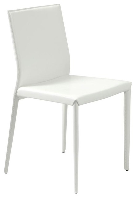 White leather upholstered dining chairs set for White leather dining chairs