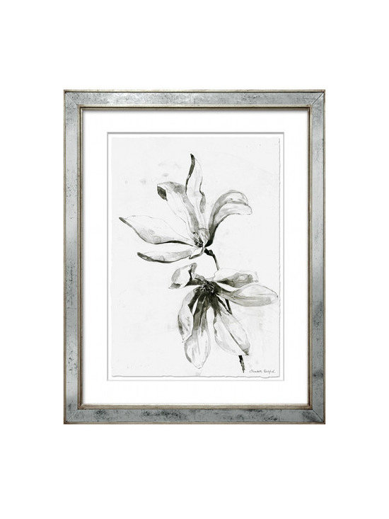 "Mirror Framed Elizabeth Ockford - Print 6 - Elizabeth Ockford is a highly talented and creative artist with infectious energy and enthusiasm. These Limited Edition fine art giclee prints are individually numbered and signed by the artist. Frame is silver leaf mirror. Measures 27""x34"""