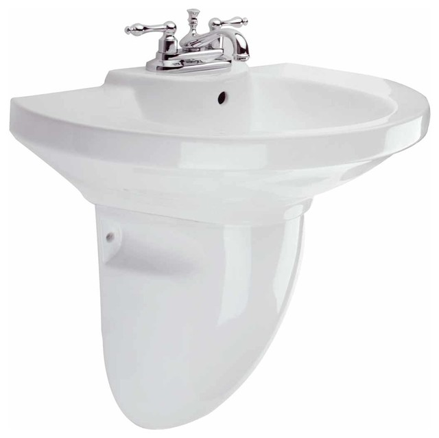 Half pedestal bathroom sinks