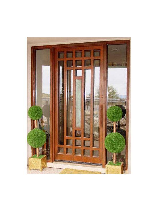 Glass Front Door -
