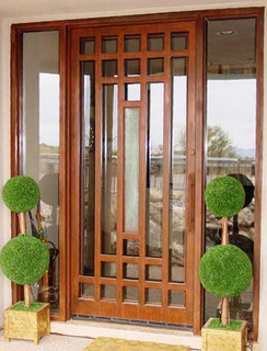 Modern Front Doors  Glass on Glass Front Door I Love The Openness The Glass Door Provides The