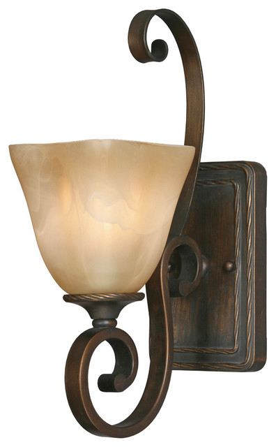Golden Lighting 3890-1W GB 1-Light Wall Sconce transitional-wall-lighting